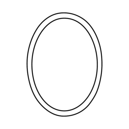 Vector illustration of mirror and circle icon. Web element of mirror and metal stock symbol for web.