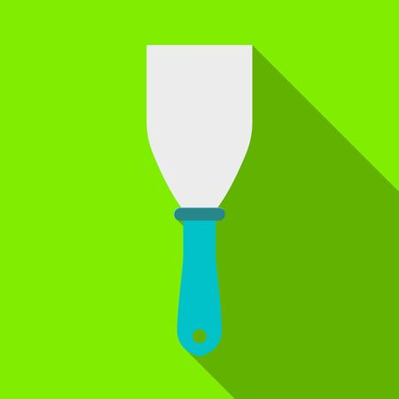 Isolated object of spatula and scraper sign. Graphic of spatula and trowel stock symbol for web.