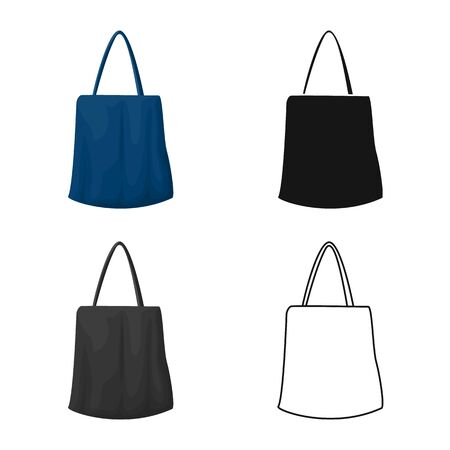 Isolated object of handbag and minimarket icon. Graphic of handbag and sale stock symbol for web.
