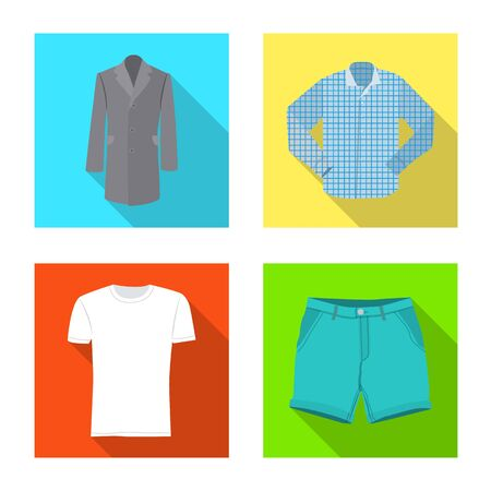 Vector design of man and clothing icon. Set of man and wear vector icon for stock. Standard-Bild - 134582394