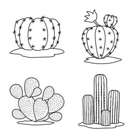Vector illustration of vegetative and interior logo. vegetative and desert stock symbol for web.