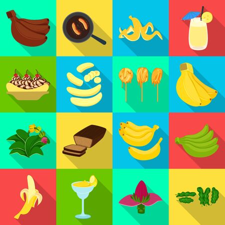 Vector illustration of natural and vegetarian icon. Collection of natural and eating stock symbol for web. Foto de archivo - 134773479