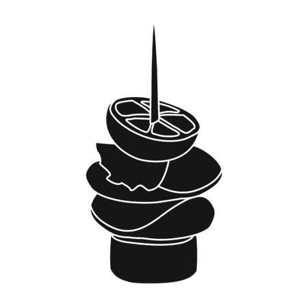 Canape vector icon.Black vector icon isolated on white background canape .