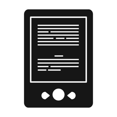 Ebook vector icon.Black vector icon isolated on white background ebook .