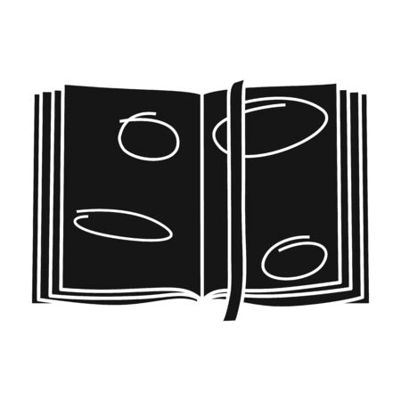 Open book vector icon.Black vector icon isolated on white background open book.