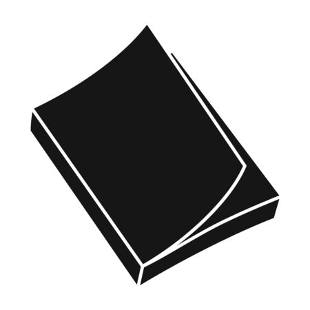 Book vector icon.Black vector icon isolated on white background book .