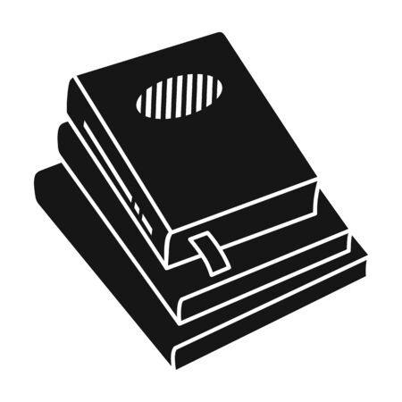Stack of books vector icon.Black vector icon isolated on white background stack of books .