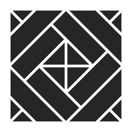 Parquet floor vector icon.Black vector icon isolated on white background parquet floor.