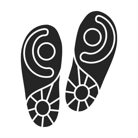 Print of shoe vector icon.Black vector icon isolated on white background print of shoe . 일러스트
