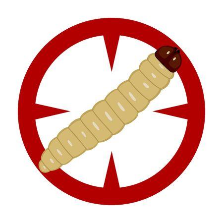 Caterpillar vector icon.Cartoon vector icon isolated on white background caterpillar.