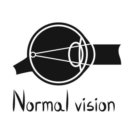 Vector design of eyeball and organ symbol. Graphic of eyeball and eyesight vector icon for stock. Foto de archivo - 135014797
