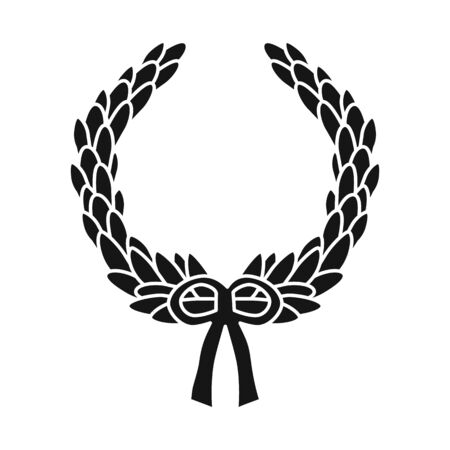Vector design of wreath and laurel symbol. Web element of wreath and garland vector icon for stock.