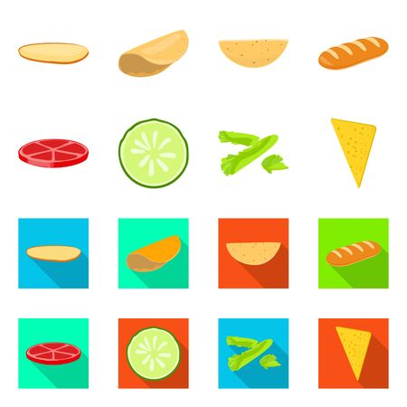 Vector design of cooking and dinner sign. Collection of cooking and fast vector icon for stock. Ilustração