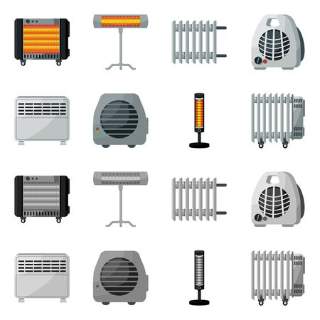 Isolated object of household and appliances icon. household and appliance vector icon for stock. Ilustração