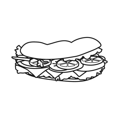 Vector illustration of burger and bread symbol. Web element of burger and tomato stock vector illustration. Ilustrace