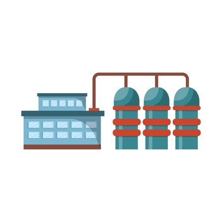 Vector design of manufactory and powerhouse icon. Collection of manufactory and urban vector icon for stock.