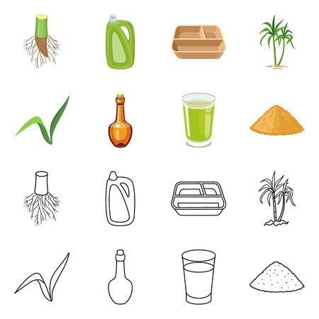 Isolated object of natural and production symbol. Collection of natural and agricultural stock symbol for web.