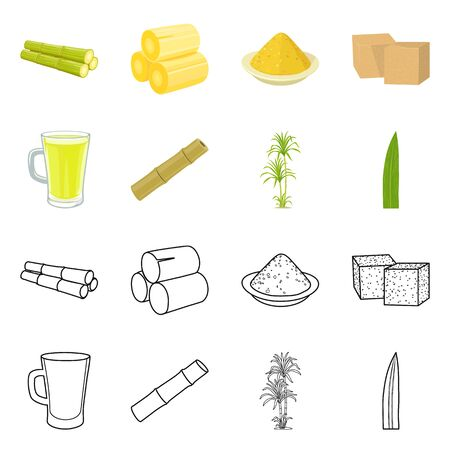 Vector design of production and farm icon. Collection of production and agriculture stock symbol for web.
