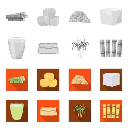 Isolated object of industry and sugarcane symbol. Collection of industry and tropical stock symbol for web.