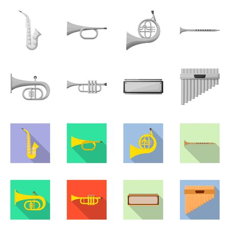 Isolated object of concert and classical sign. Set of concert and equipment vector icon for stock.