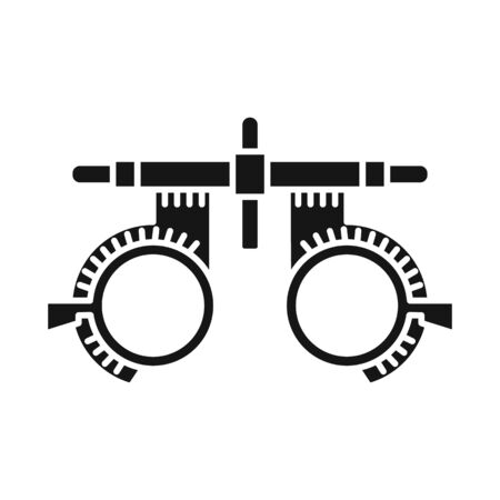 Isolated object of glasses and corrective sign. Web element of glasses and eyeglasses stock symbol for web.