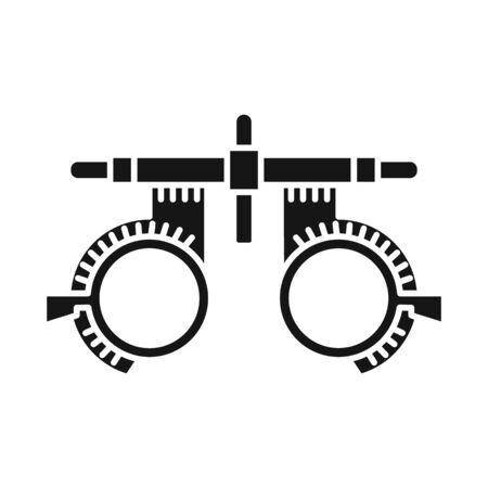Isoliertes Objekt aus Brille und Korrekturzeichen. Web-Element von Brillen und Brillen-Aktiensymbol für das Web.