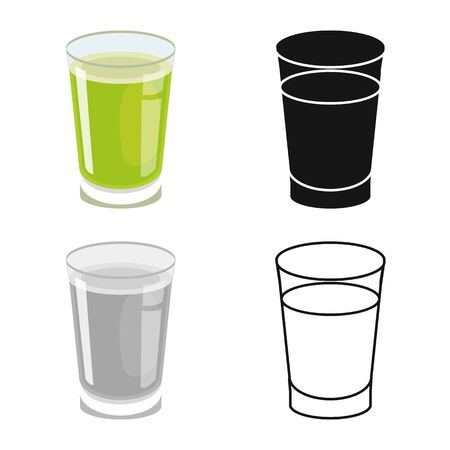 Vector illustration of juice and sugar symbol. Web element of juice and cane stock symbol for web. Ilustrace