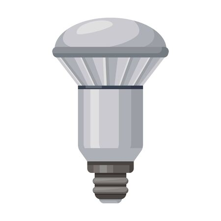Electric lamp vector icon.Cartoon vector icon isolated on white background electric lamp.