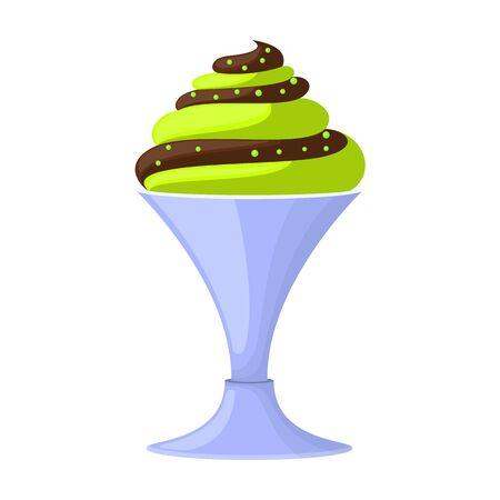Ice cream vector icon.Cartoon vector icon isolated on white background ice cream .