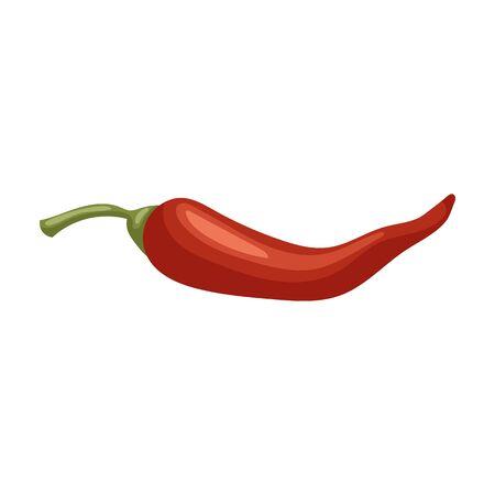Pfeffer-Chili-Vektor-Symbol. Cartoon-Vektor-Symbol isoliert auf weißem Hintergrund Pfeffer-Chili.