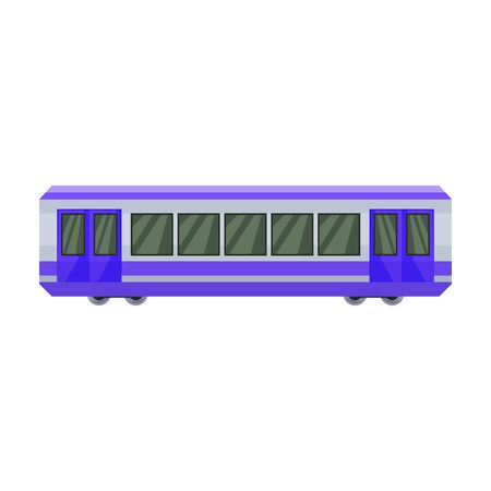 Train of metro vector icon.Cartoon vector icon isolated on white background train of metro . Фото со стока - 134927393