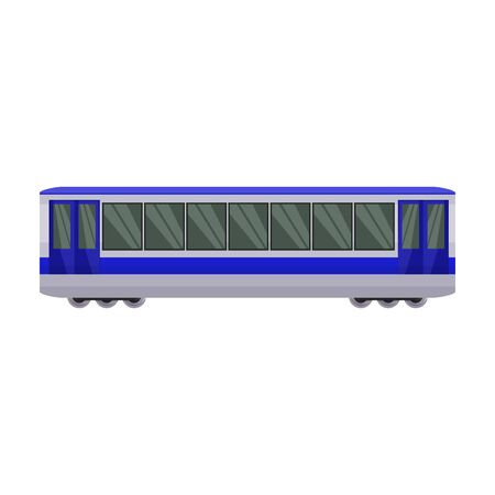 Train of metro vector icon.Cartoon vector icon isolated on white background train of metro . Фото со стока - 134927404