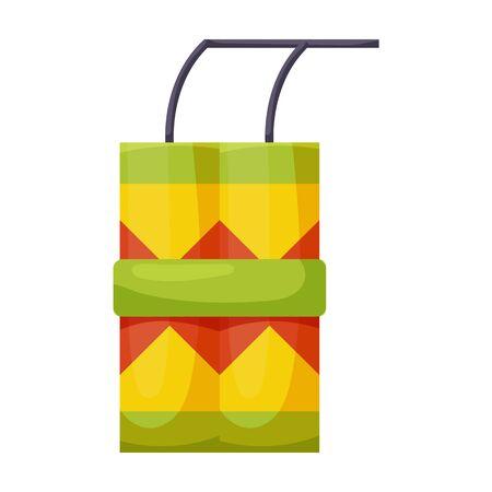Firecracker vector icon.Cartoon vector icon isolated on white background firecracker .