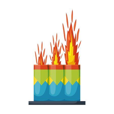 Christmas firework vector icon.Cartoon vector icon isolated on white background christmas firework.