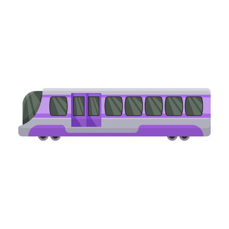 Subway train vector icon.Cartoon vector icon isolated on white background subway train.