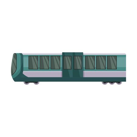 Train of metro vector icon.Cartoon vector icon isolated on white background train of metro .