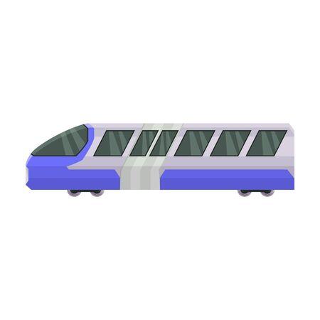 Train of metro vector icon.Cartoon vector icon isolated on white background train of metro .