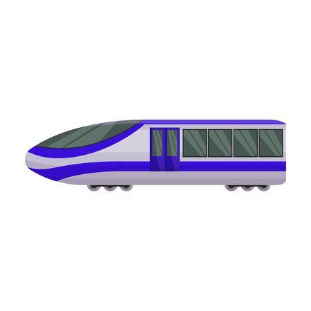 Subway train vector icon.Cartoon vector icon isolated on white background subway train. Фото со стока - 134919702