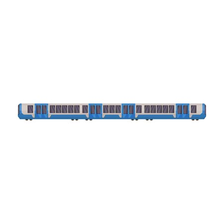 Train of metro vector icon.Cartoon vector icon isolated on white background train of metro . Фото со стока - 134919708