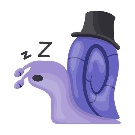 Animal snail vector icon.Cartoon vector icon isolated on white background animal snail. Illustration
