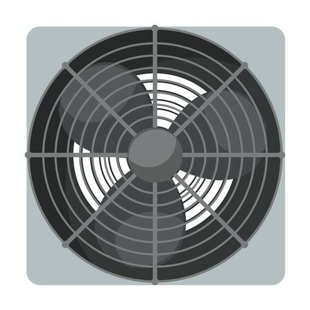 Fan vector icon.Cartoon vector icon isolated on white background fan.