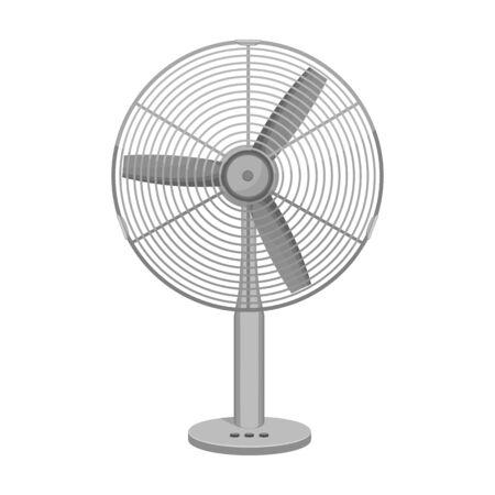 Elektrolüfter-Vektor-Symbol. Cartoon-Vektor-Symbol auf weißem Hintergrund Elektrolüfter isoliert.