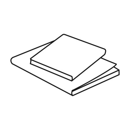 Stack of books vector icon.Line vector icon isolated on white background stack of books . 向量圖像