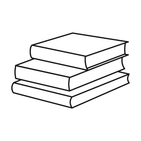 Stack of books vector icon.Line vector icon isolated on white background stack of books . 版權商用圖片 - 134925633