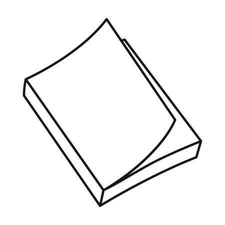 Book vector icon.Line vector icon isolated on white background book .
