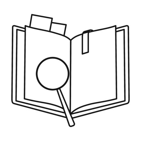 Open book vector icon.Line vector icon isolated on white background open book. 版權商用圖片 - 134925640