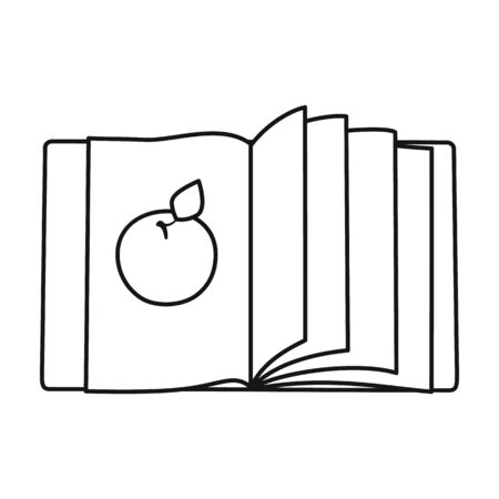 Open book vector icon.Line vector icon isolated on white background open book.
