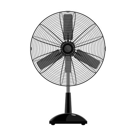 Fan vector icon.Cartoon vector icon isolated on white background fan . Ilustração Vetorial