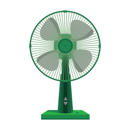 Fan vector icon.Cartoon vector icon isolated on white background fan . Иллюстрация