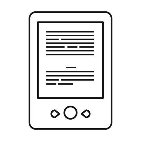 Ebook vector icon.Line vector icon isolated on white background ebook . 版權商用圖片 - 134925809